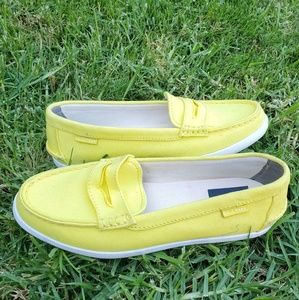 COLE HAAN Yellow Canvas Loafers
